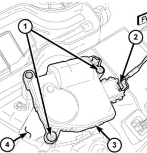 Two wire blend door actuator motor
